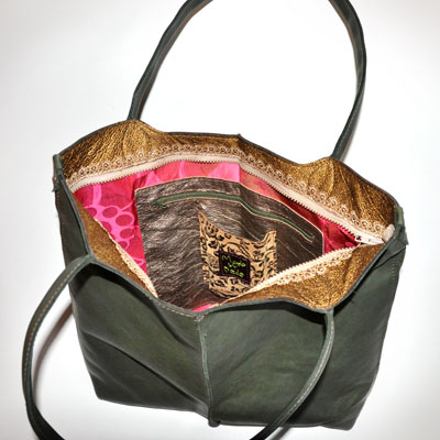 a unique handmade bag