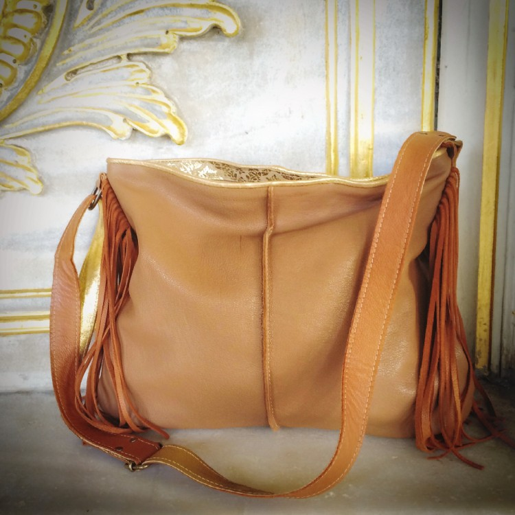 crossbody_sholder bag taupe leather